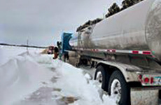 Towning Semi in Snow